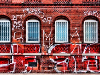 Graffiti Red Building